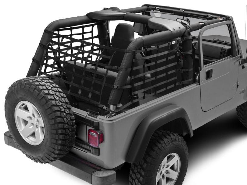 TruShield Cargo Wrap Around Net - One Piece (04-06 Jeep Wrangler TJ Unlimited)