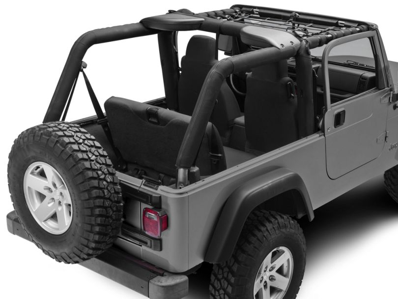 Dark Forest Front Overhead Net (04-06 Jeep Wrangler TJ Unlimited)