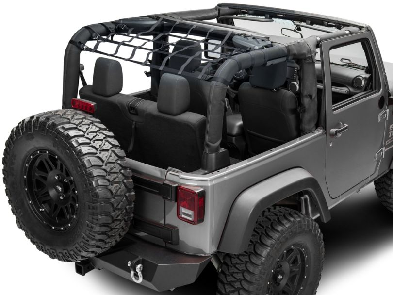 TruShield Rear Overhead Net (07-18 Jeep Wrangler JK 2 Door)