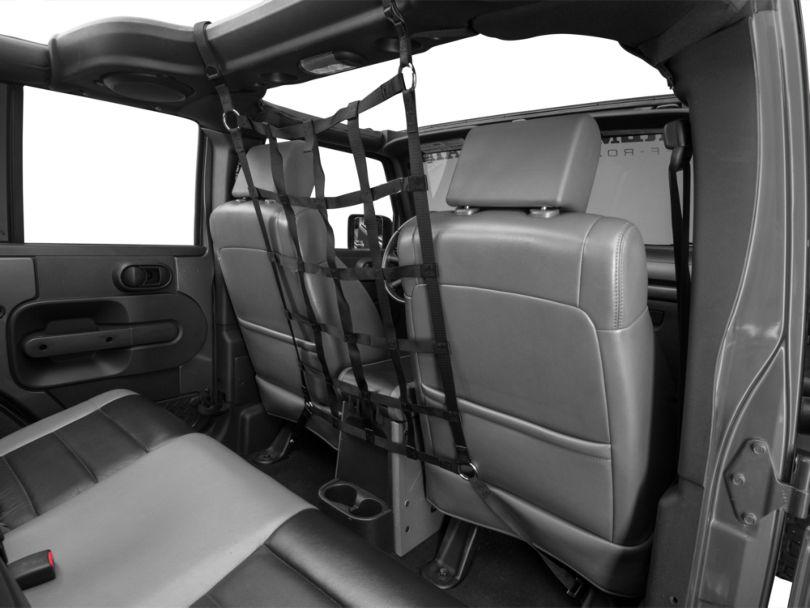 TruShield Front Pet Barrier Net - Black (07-18 Jeep Wrangler JK 4 Door)