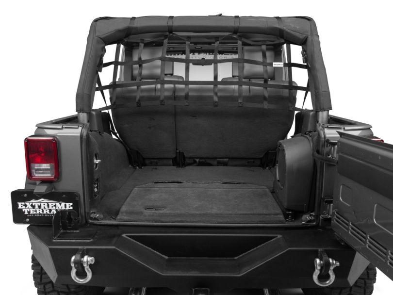RedRock 4x4 Rear Pet Barrier Net - Black (07-18 Jeep Wrangler JK 4 Door)