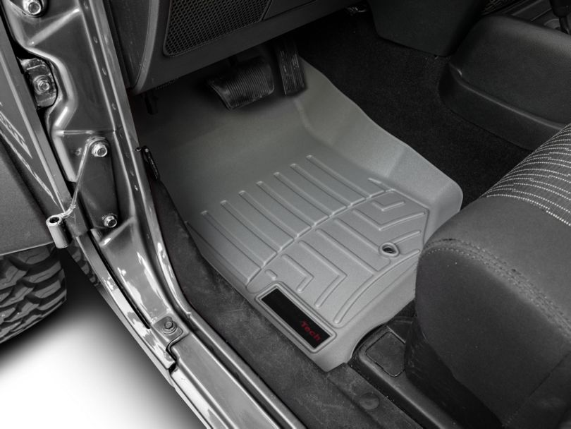 Weathertech DigitalFit Front Floor Liner - Gray (07-13 Jeep Wrangler JK)