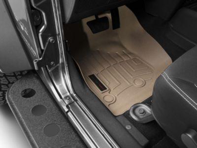 Weathertech DigitalFit Front & Rear Floor Liners - Tan (14-18 Jeep Wrangler JK 4 Door)