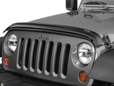 Weathertech Stone & Bug Deflector - Dark Smoke (07-18 Jeep Wrangler JK)