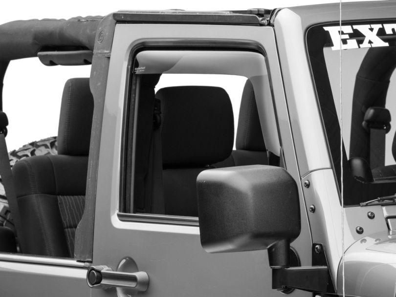 Weathertech Front Side Window Deflectors - Dark Smoke (07-18 Jeep Wrangler JK 2 Door)