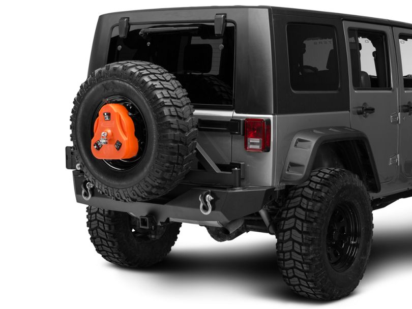 Daystar Cam Can Trail Box w/ Spare Tire Mount - Orange (97-18 Jeep Wrangler TJ & JK)