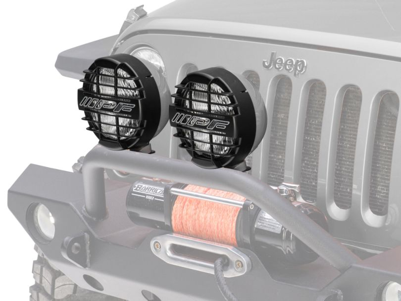 ARB 8 in. IPF 900XS Extreme Round Halogen Lights - Driving Beam - Pair (87-20 Jeep Wrangler YJ, TJ, JK & JL)
