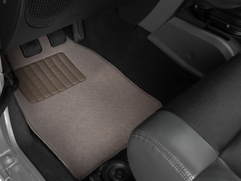 Alterum 4-Piece Fabric Floor Mat Set w/ Heel Pad- Beige (87-20 Jeep Wrangler YJ, TJ, JK & JL)