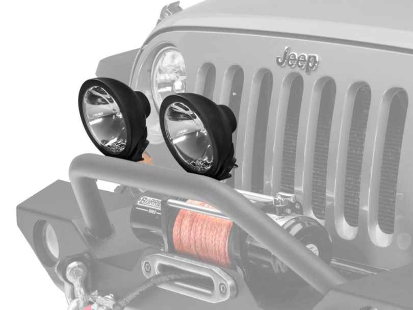 Hella 4.5 in. Rallye 4000 Compact Black Driving Lamp