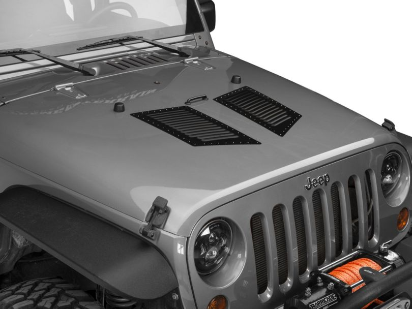 Hi-Flow Louvers; Medium; Semi-Gloss Black (87-20 Jeep Wrangler YJ, TJ, JK & JL)