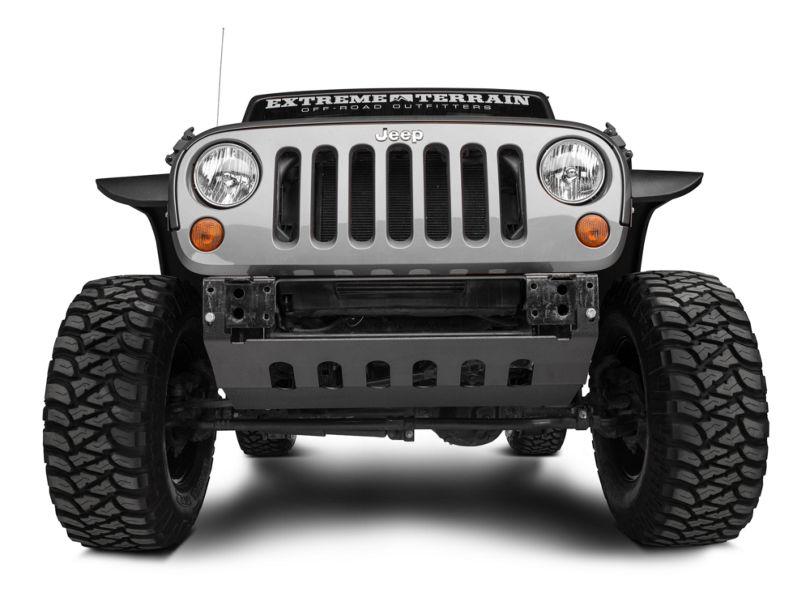 Barricade Front Skid Plate - Textured Black (10-18 Jeep Wrangler JK)