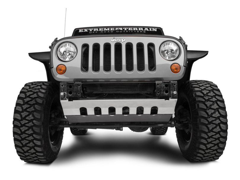 Barricade Front Skid Plate - Stainless Steel (10-18 Jeep Wrangler JK)