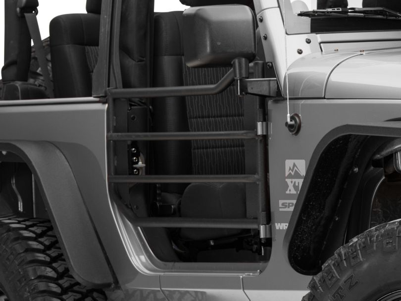 Barricade Front Adventure Doors - Textured Black (07-18 Jeep Wrangler JK)
