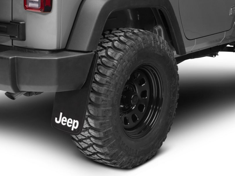 RedRock 4x4 Jeep Logo Easy Fit Mud Guard 11x19 (87-19 Jeep Wrangler YJ, TJ, JK & JL)