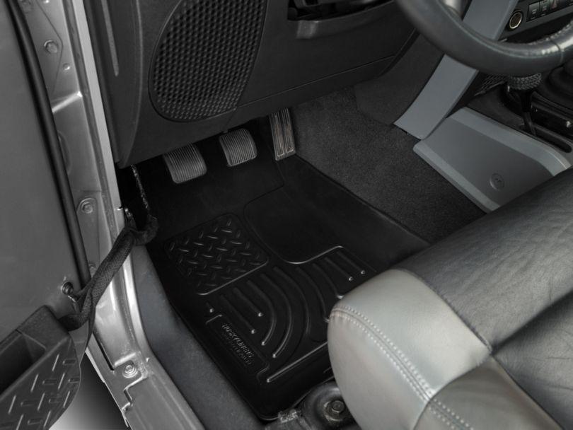 Husky Weatherbeater Front Floor Liners - Black (07-13 Jeep Wrangler JK)