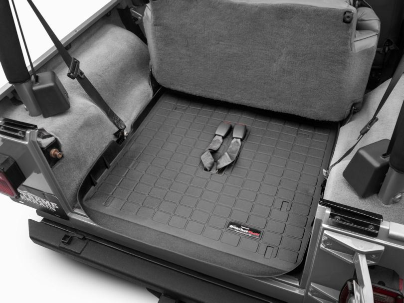 Weathertech DigitalFit Cargo Liner - Black (03-06 Jeep Wrangler TJ, Excluding Unlimited)
