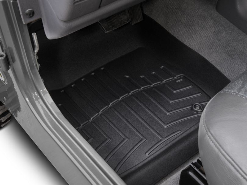 Weathertech DigitalFit Front Floor Liners; Black (97-06 Jeep Wrangler TJ)