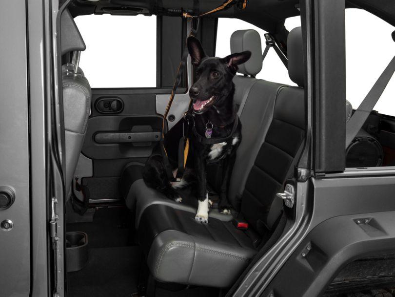Kurgo Pet Backseat Auto Zip Line w/ Leash (87-20 Jeep Wrangler YJ, TJ, JK & JL)