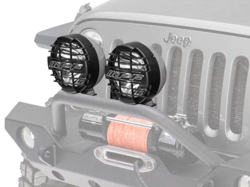 ARB 8 in. IPF 900XS Extreme Round Halogen Lights - Spot Beam - Pair