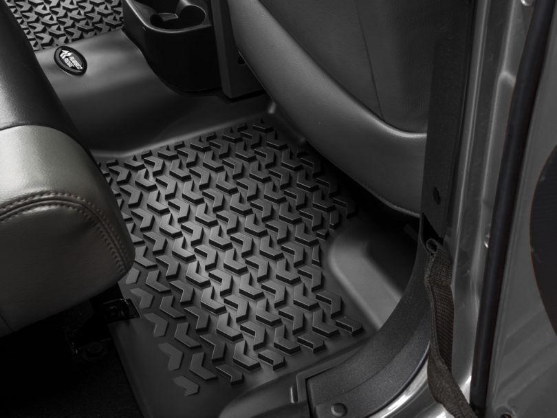 Rugged Ridge All-Terrain Rear Floor Mat; Black (07-18 Jeep Wrangler JK 4 Door)