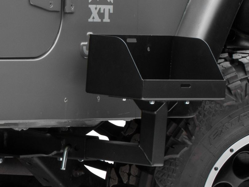 MORryde Frame Side Mount Jerry Can Holder w/ Tall Tray (87-06 Jeep Wrangler YJ & TJ)