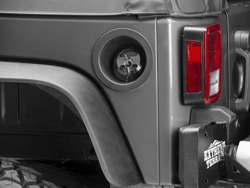 DV8 Off-Road Black Billet Fuel Cap (01-20 Jeep Wrangler TJ, JK & JL)