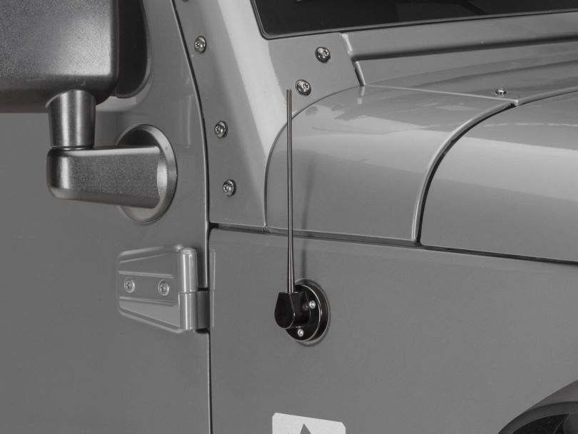Drake Off Road Billet Antenna Black (07-20 Jeep Wrangler JK & JL)