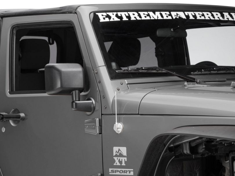 Billet Antenna; Brushed (07-20 Jeep Wrangler JK & JL)