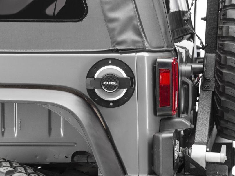 DV8 Off-Road Billet Fuel Door (07-18 Jeep Wrangler JK)