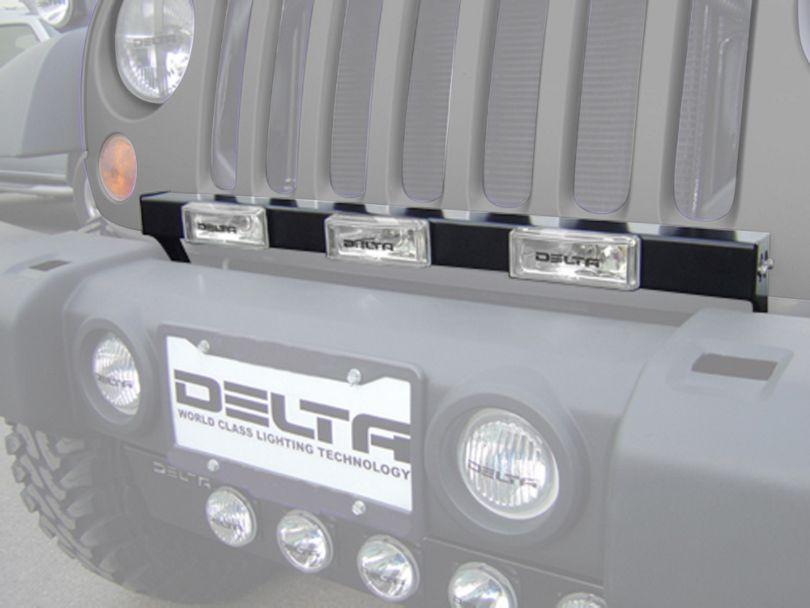 Delta HID Grille Bar (07-18 Jeep Wrangler JK)