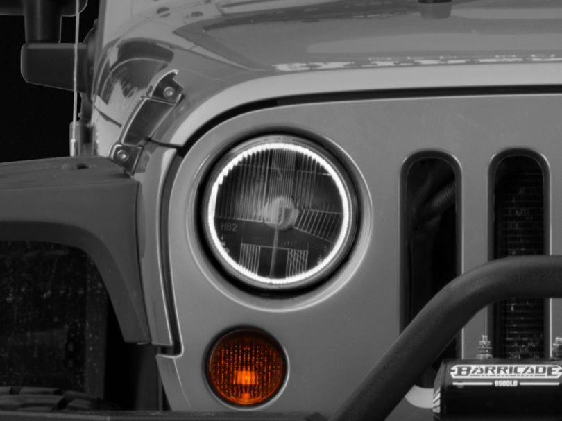 Delta LED HALO 7 in. Headlight Kit (07-18 Jeep Wrangler JK)