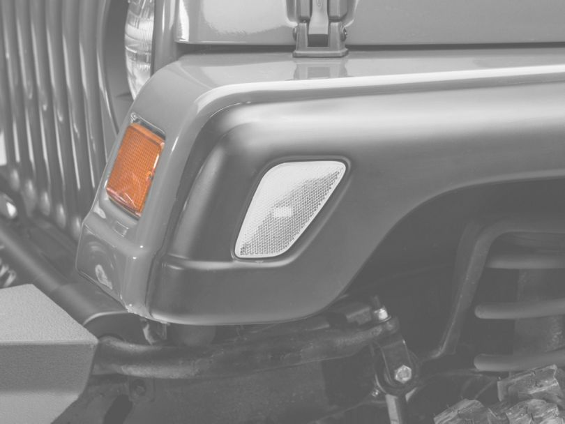 Axial Clear Side Marker Lights - Pair (97-06 Jeep Wrangler TJ)