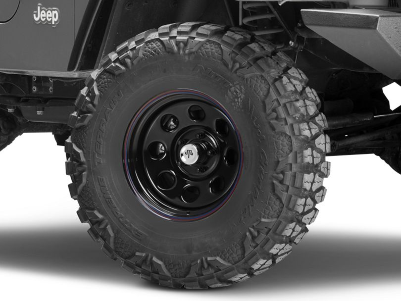 Mammoth 8 Black Wagon Wheel Edition Steel Wheel - 15x8 (97-06 Jeep Wrangler TJ)