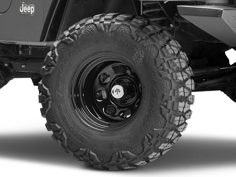 Mammoth 8 Black Wagon Wheel Edition Steel Wheel - 15x10 (97-06 Jeep Wrangler TJ)