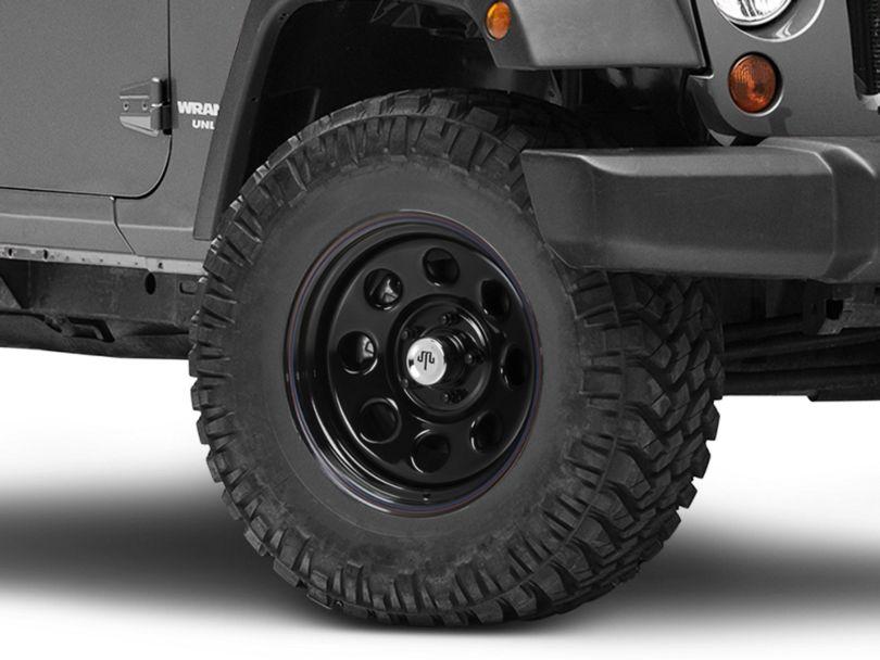Mammoth 8 Steel Black Wheel w/ Polished Center Cap - 17x9 (07-18 Jeep Wrangler JK)