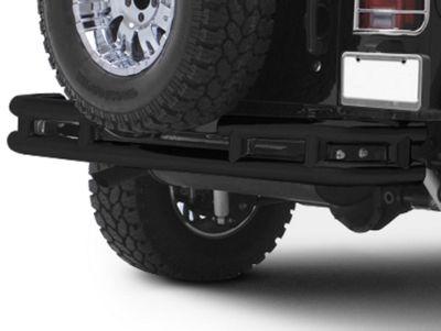 Add Smittybilt Tubular Rear Bumper w/o Hitch - Gloss Black (87-06 Wrangler YJ & TJ)