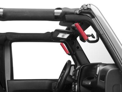 GraBars Grab Handle Grips - Red (87-18 Jeep Wrangler YJ