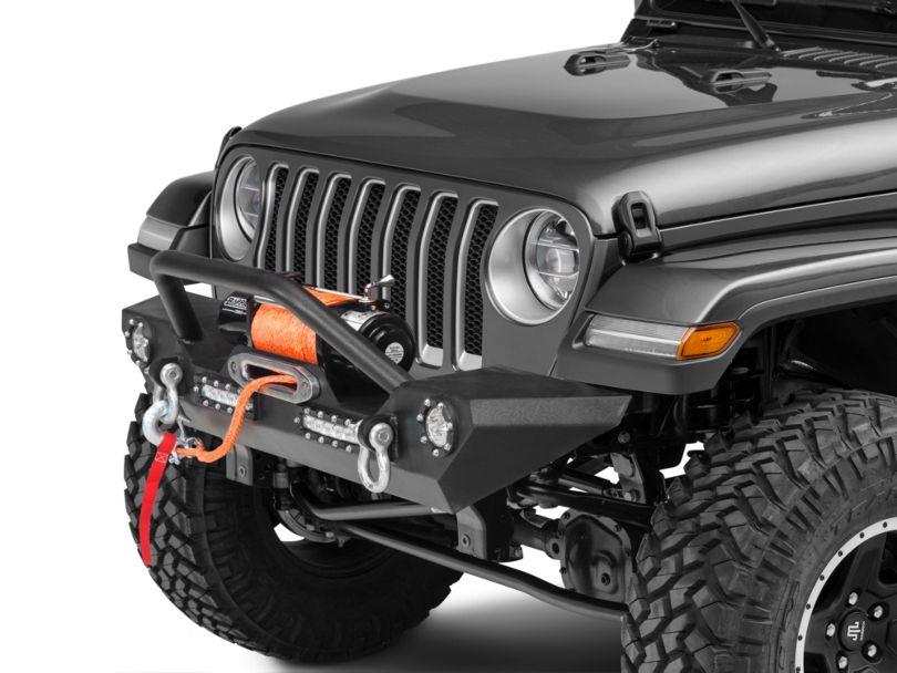 Barricade Trail Force HD Front Bumper w/ LED Lights (18-20 Jeep Wrangler JL)