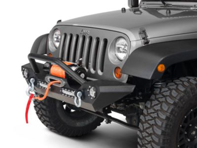 Add Barricade Trail Force HD Front Bumper w/ LED Lights (07-17 Wrangler JK)