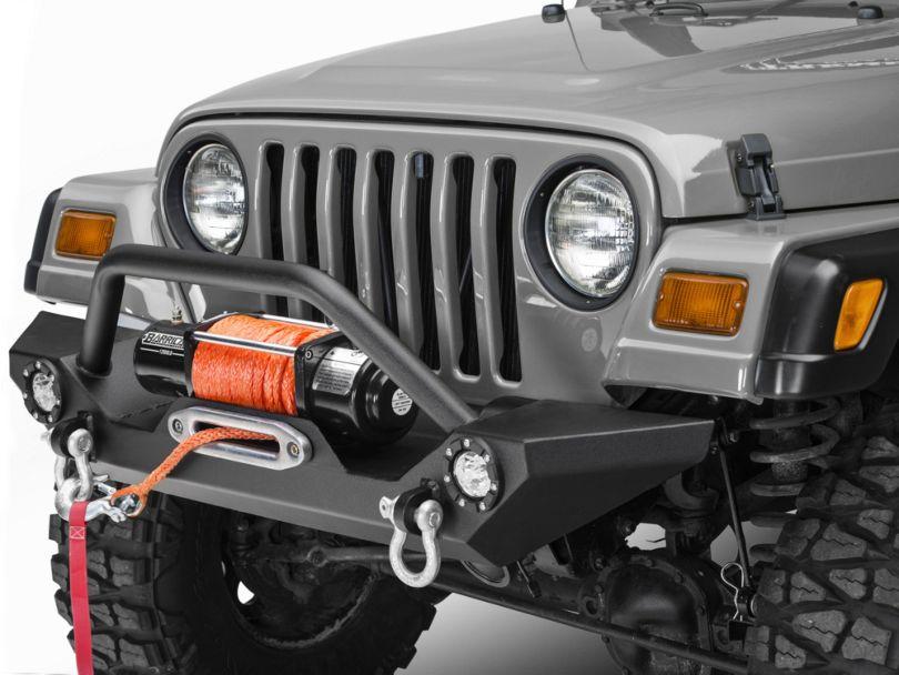 Barricade Trail Force HD Front Bumper w/ LED Lights (87-06 Jeep Wrangler YJ & TJ)