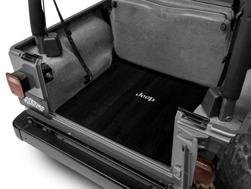 Lloyd Ultimat Cargo Mat w/ Jeep Logo - Black (97-06 Jeep Wrangler TJ)