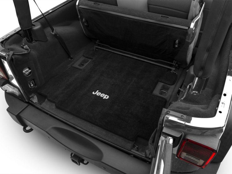 Lloyd Ultimat Cargo Mat w/ Jeep Logo - Black (07-10 Jeep Wrangler JK 2 Door)