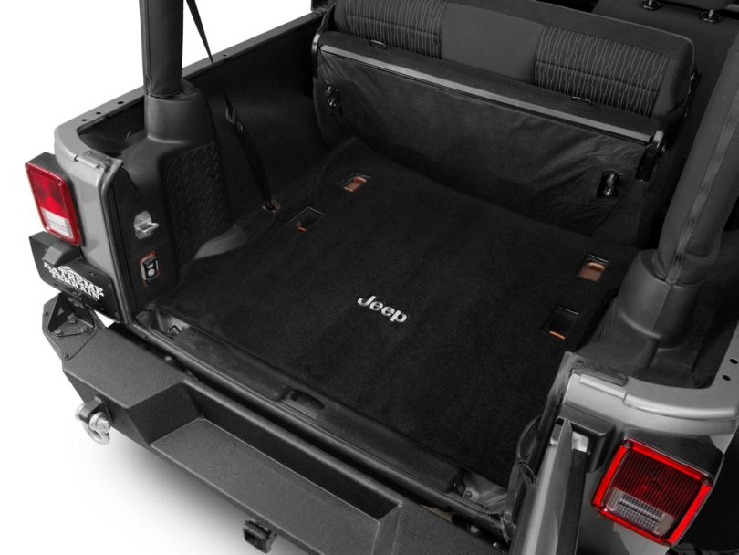 Lloyd Ultimat Cargo Mat w/ Jeep Logo - Black (11-18 Jeep Wrangler JK 2 Door)
