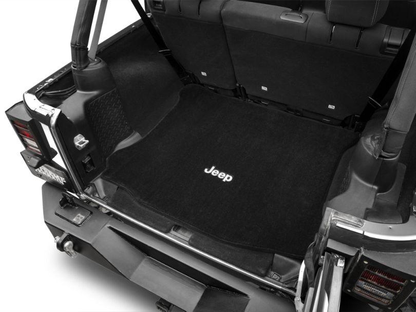 Lloyd Ultimat Cargo Mat with Jeep Logo; Black (11-18 Jeep Wrangler JK 4 Door)
