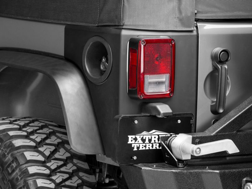 Rugged Ridge Rear Corner Body Armor - Matte Black (07-18 Jeep Wrangler JK 2 Door)