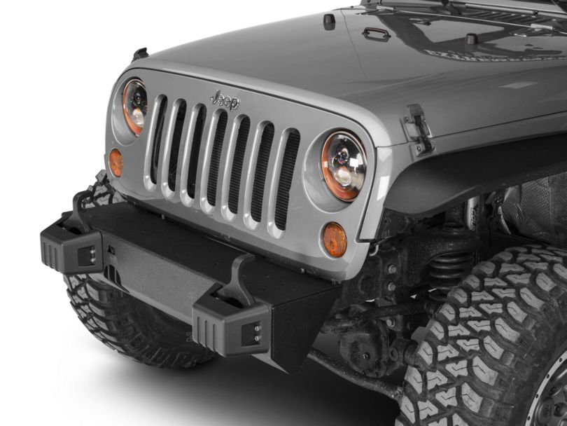 Rugged Ridge XHD Front Bumper Base w/ Tow Point Covers (07-18 Jeep Wrangler JK)