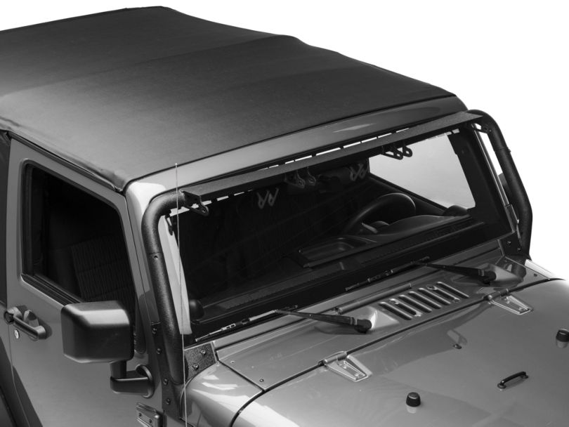 Rugged Ridge Windshield Mounted Light Bar for Three 13.50-Inch LED Light Bars (07-18 Jeep Wrangler JK)