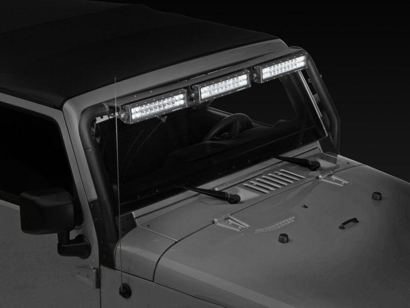 Rugged Ridge 13.5 in. LED Light Bars w/ Windshield Mounted Light Bar (07-18 Jeep Wrangler JK)