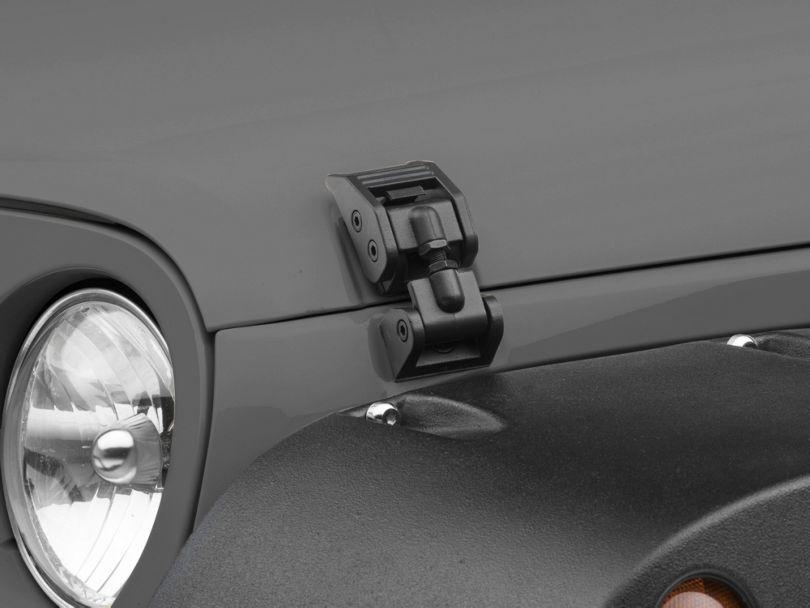 Rugged Ridge Hood Catches - Textured Black (07-18 Jeep Wrangler JK)
