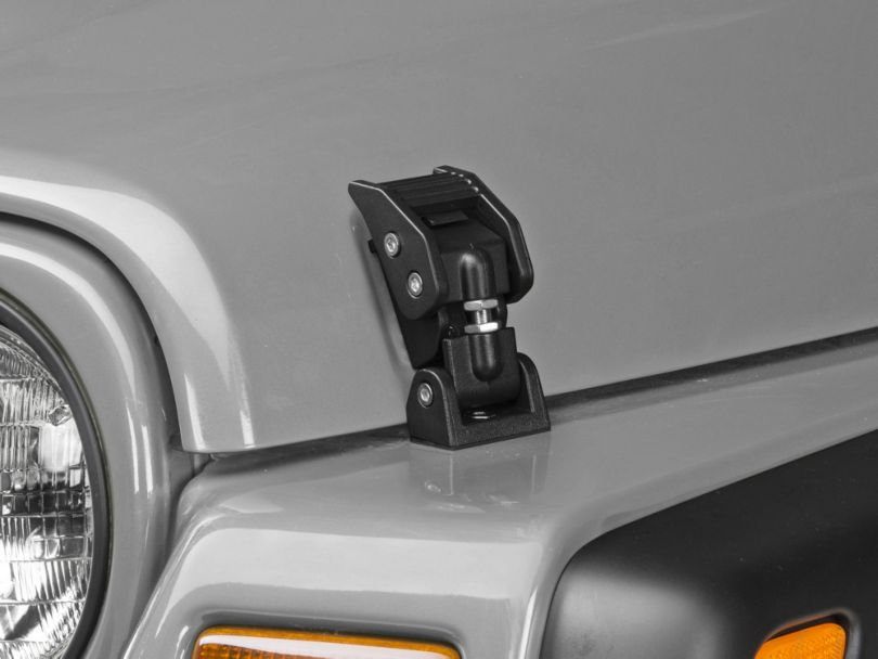 Rugged Ridge Hood Catches - Textured Black (97-06 Jeep Wrangler TJ)